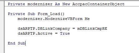 Modern code snippet
