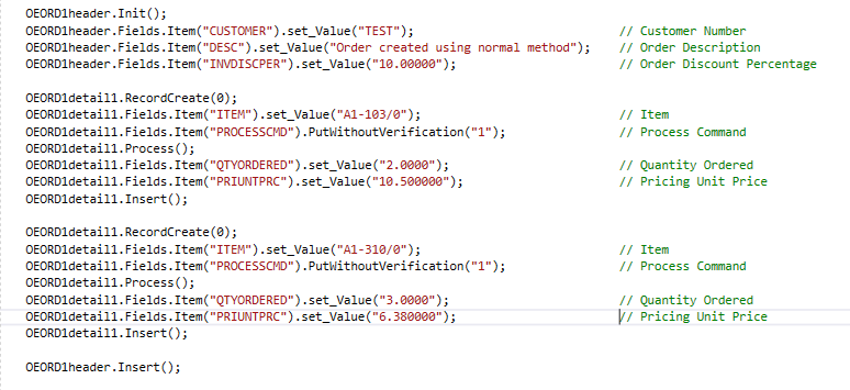 BlkPut using COMAPI in C#