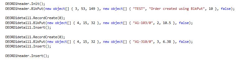 BlkPut using COMAPI in C# 2