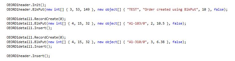BlkPut Using advantage API in C# 2
